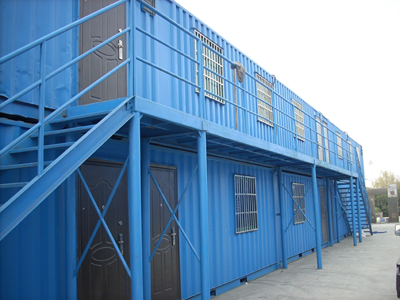 Folding container prefabricated house