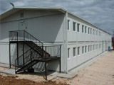 Slope crest prefabricated house